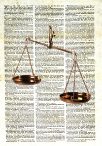 US Constitution And Scales Of Justice